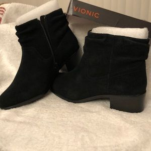 Vionic Kanela Suede Booties, Weather Resistant